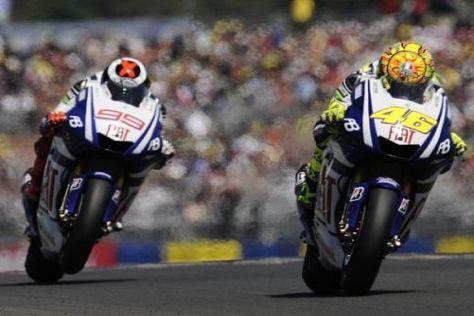 Jorge Lorenzo und Valentino Rossi sind in Indianapolis die Gejagden