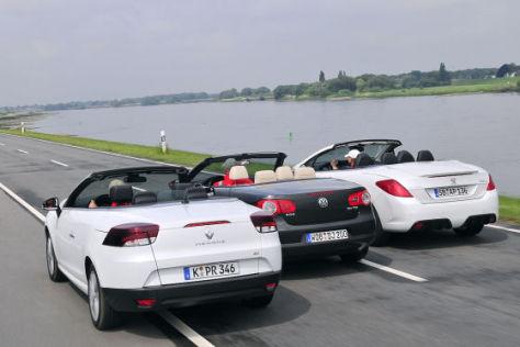 Cabrio Vergleich Vw Eos Trifft Auf Peugeot 308 Und Renaul Megane