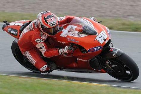 Die Ducati von Nicky Haden ist im ersten Training in Misano nicht gut gelaufen