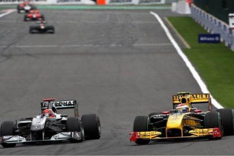 Kann Vitaly Petrov auch in Monza einem Michael Schumacher Druck machen?