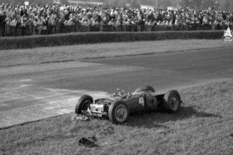 Graf Berghe von Trips Ferrari nach dem tödlichen Unfall 1961