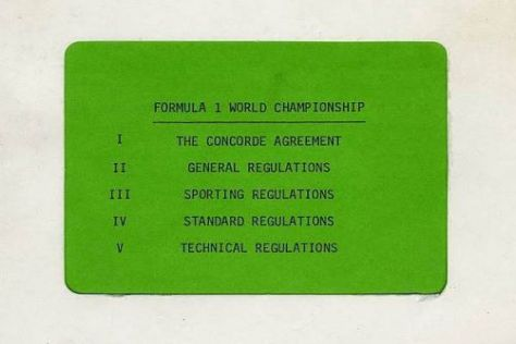 Bereits 1981 gab es erstmals ein Concorde-Agreement in der Formel 1