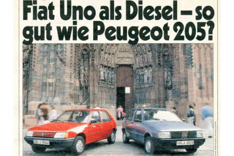 Fiat Uno Peugeot 205