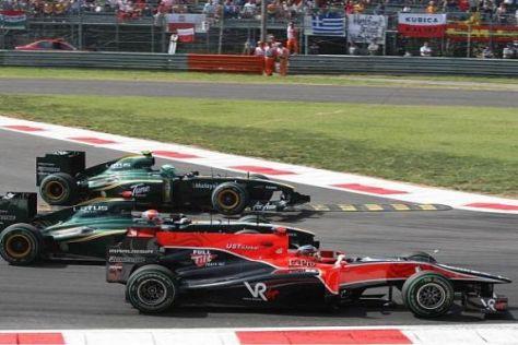 Timo Glock wäre am Start um ein Haar an beiden Lotus vorbeigekommen
