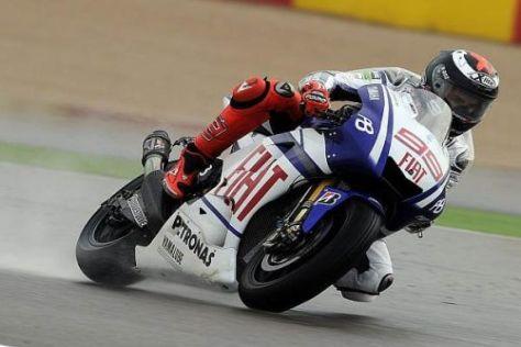 Jorge Lorenzo war mit dem Regen-Setup seiner Yamaha zufrieden