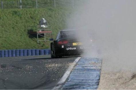 Timo Scheider schlitzte sich seinen Reifen möglicherweise hier auf...