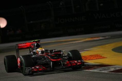 Lewis Hamilton kostete eine Kollision mit Mark Webber wertvolle Punkte