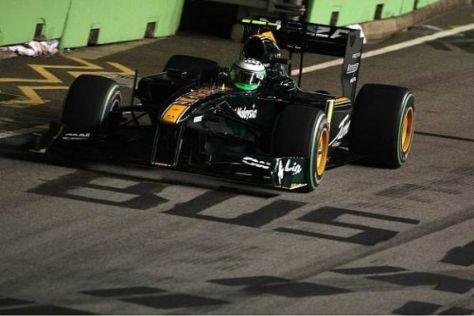 Heikki Kovalainen hatte gegen Rennende in Singapur Glück im Unglück
