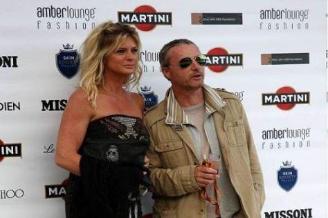 Eddie Irvine (rechts) mit Rachel Hunter, der Ex von Popstar Rod Stewart