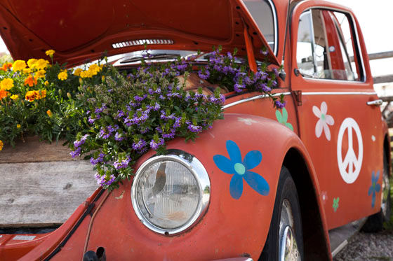 VW Käfer Blumenkasten