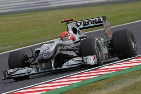 Mercedes-Pilot Michael Schumacher war mit seinem Auto im Rennen zufrieden