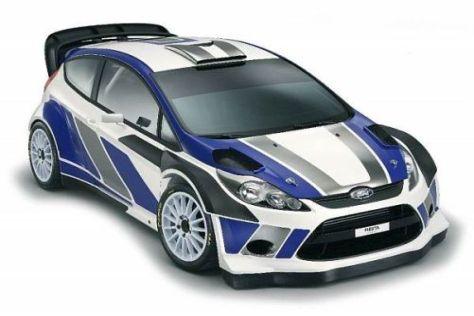 Der neue Ford-Fiesta wird im neuen Jahr zur Rallye-Weltmeisterschaft hinzu stoßen