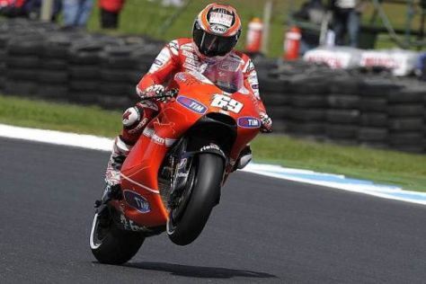 Nur Platz vier: Nicky Hayden hätte Valentino Rossi gerne geschlagen