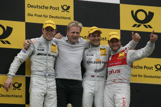 Die erste Podiumsplatzierung mit P3 holte Scheider in Zandvoort hinter Gary Paffett und Paul di Resta.