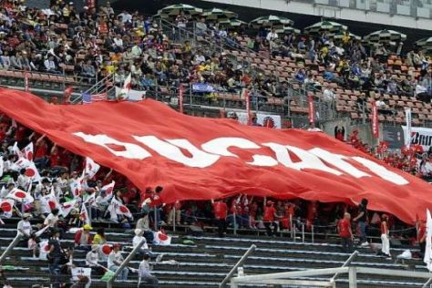 Die Ducati-Fans freuen sich schon auf die Ankunft von Valentino Rossi