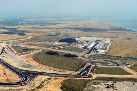 Die Strecke aus der Vogelperspektive: Der KIC liegt direkt am Gelben Meer