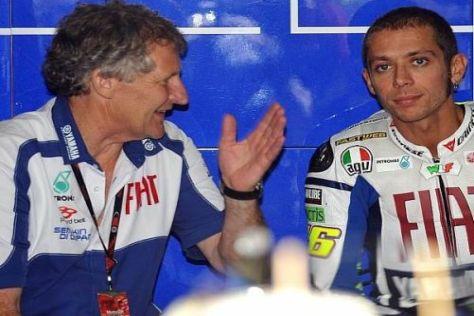 Vertraute Einheit: Jeremy Burgess und Valentino Rossi gehen zu Ducati