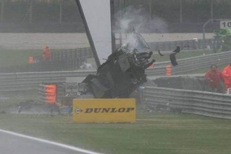 Alexandre Prémat überschlug sich mehrfach, bevor sein Auto liegen blieb