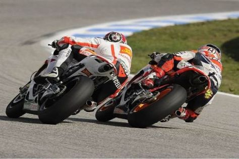 Kunden-Honda gegen Werksmaschine: Marco Simoncelli und Andrea Dovizioso