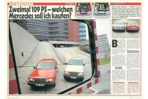 Mercedes 200 gegen Mercedes 300 D