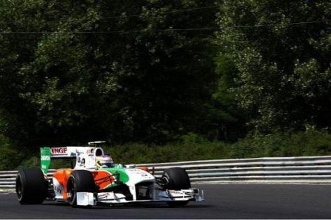 Paul di Resta teilt sich den VJM03 in Abu Dhabi gleich mit zwei Nachwuchsfahrern