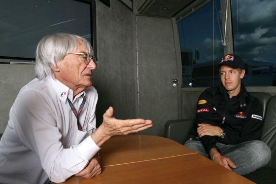 Bernie Ecclestone und Sebastian Vettel