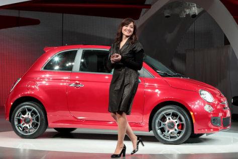 Fiat 500 auf der Los Angeles Auto Show 2010