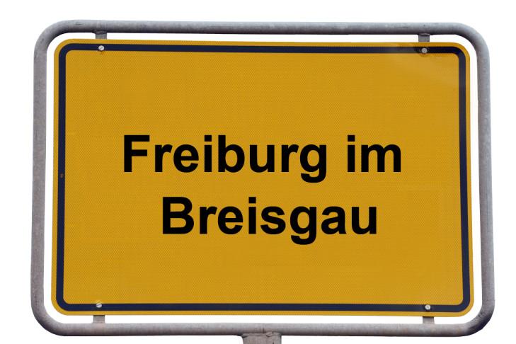 Ortsschild Freiburg im Breisgau