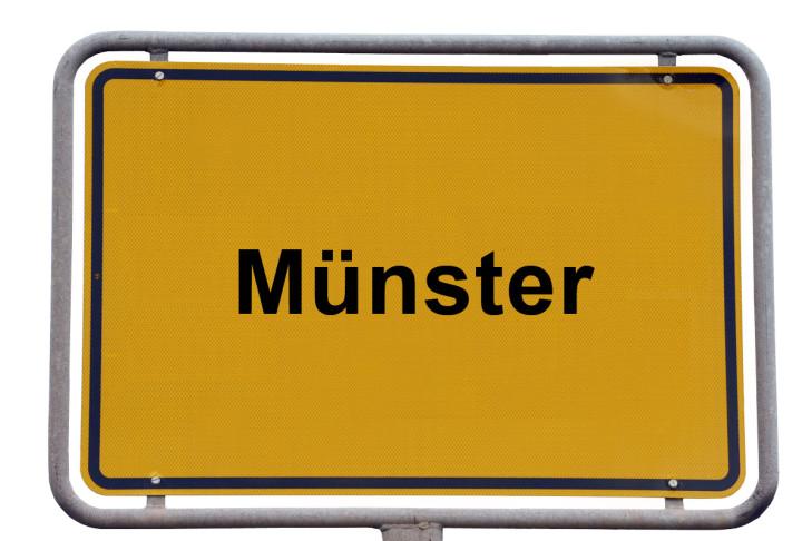 Ortsschild Münster