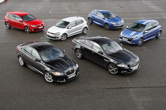Jaguar/Renault/VW markeninterne Duelle