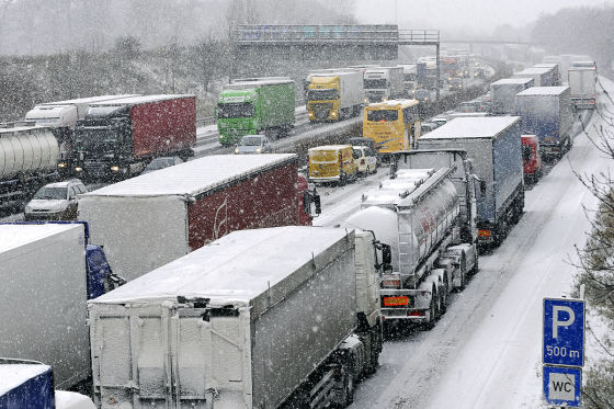 Winter-Stau
