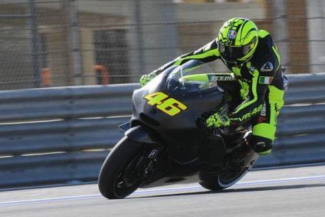 Valentino Rossis erste Testfahrten mit der Ducati gingen gründlich daneben