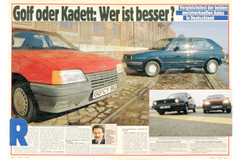 Opel Kadett E, VW Golf II