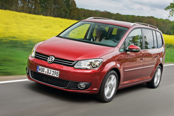 Herrscher des Raumes: Bei den Großraum-Vans hat der VW Touran die Nase vorn.