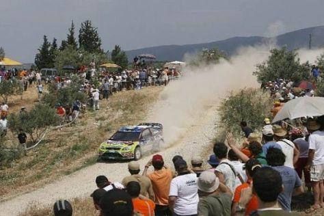 Ford-Pilot Mikko Hirvonen hat 2009 in Griechenland gewonnen