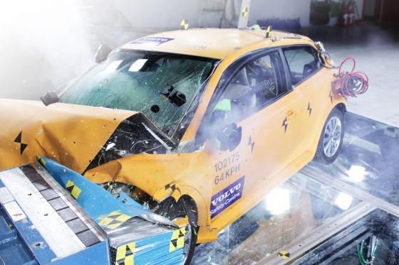 Volvo C30 Electric im Crashtest