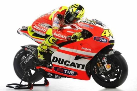 Valentino Rossi wird Anfang Februar erstmals mit der Ducati GP11 fahren