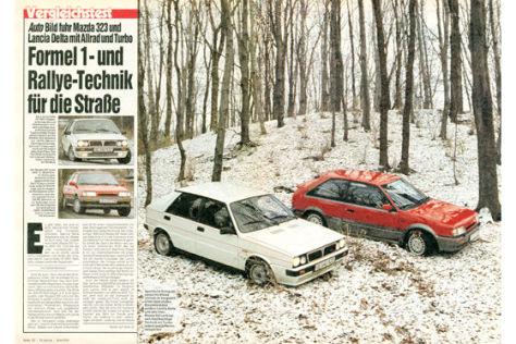 Mazda 323 Turbo 4WD 16V, Lancia Delta HF 4WD