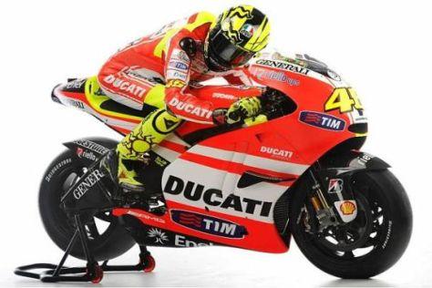 Wie schnell wird sich Rossi auf der Ducati Desmosedici GP 11 wohlfühlen?