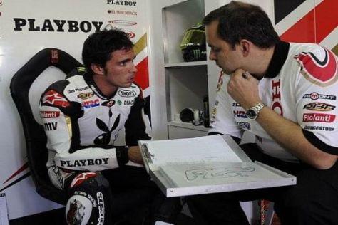 Toni Elias fuhr beim MotoGP-Test in Valencia noch hinterher
