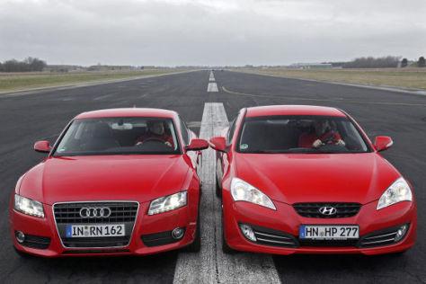 Coup 233 Vergleich Der Audi A5 Trifft Auf Den Neuen Hyundai
