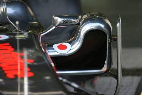 Der L-förmige Seitenkasten von McLaren: Darunter strömen die Abgase vorbei