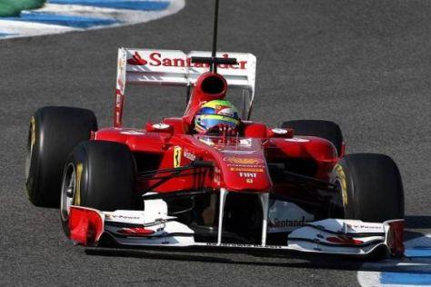Felipe Massa bestimmte am ersten Jerez-Testtag das Tempo