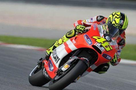 Valentino Rossi und Ducati zogen bei den Tests alle Augen auf sich