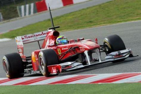 Felipe Massa raste der Konkurrenz am Montag in Barcelona auf und davon