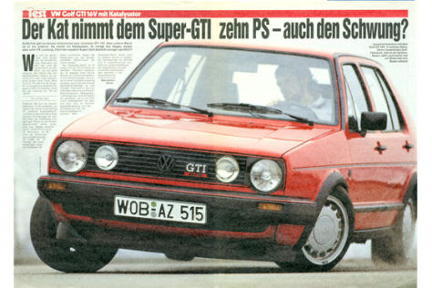 test vw golf gti 16v kat auto bild archiv artikel 15 1987. Black Bedroom Furniture Sets. Home Design Ideas