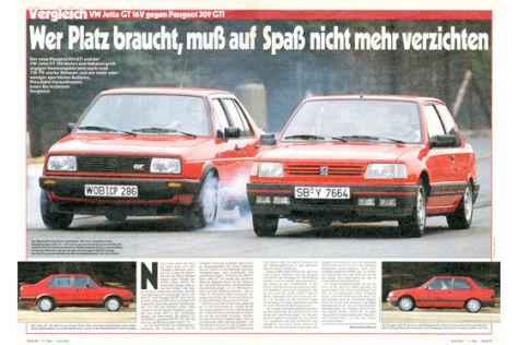 VW Jetta GT 16V gegen Peugeot 309 GTI