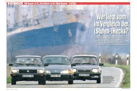Opel Ascona VW Passat Ford Sierra