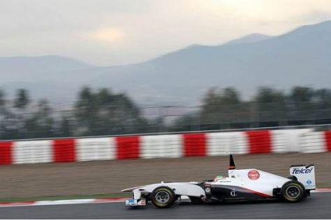 Überraschung durch Sauber: Sergio Perez fuhr die bisher beste Zeit der Woche