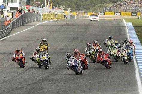 Das Starterfeld der MotoGP wird die Reise nach Japan im Oktober 2011 antreten
